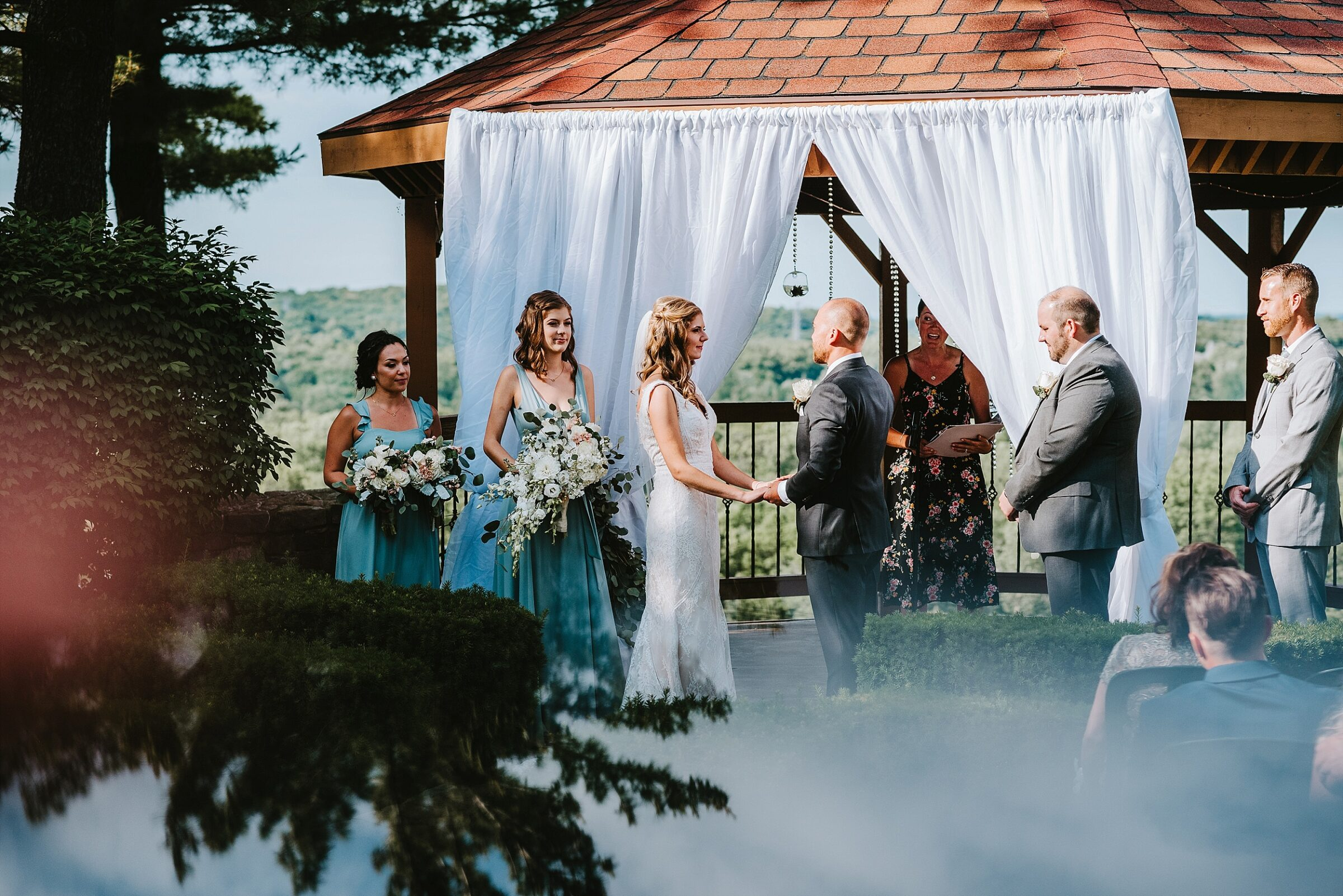 Pine Knob Mansion outdoor ceremony | Clarkston, MI wedding photogaphers